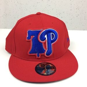 New Era 59Fifty Phillies Fitted Baseball Hat 7 7/8